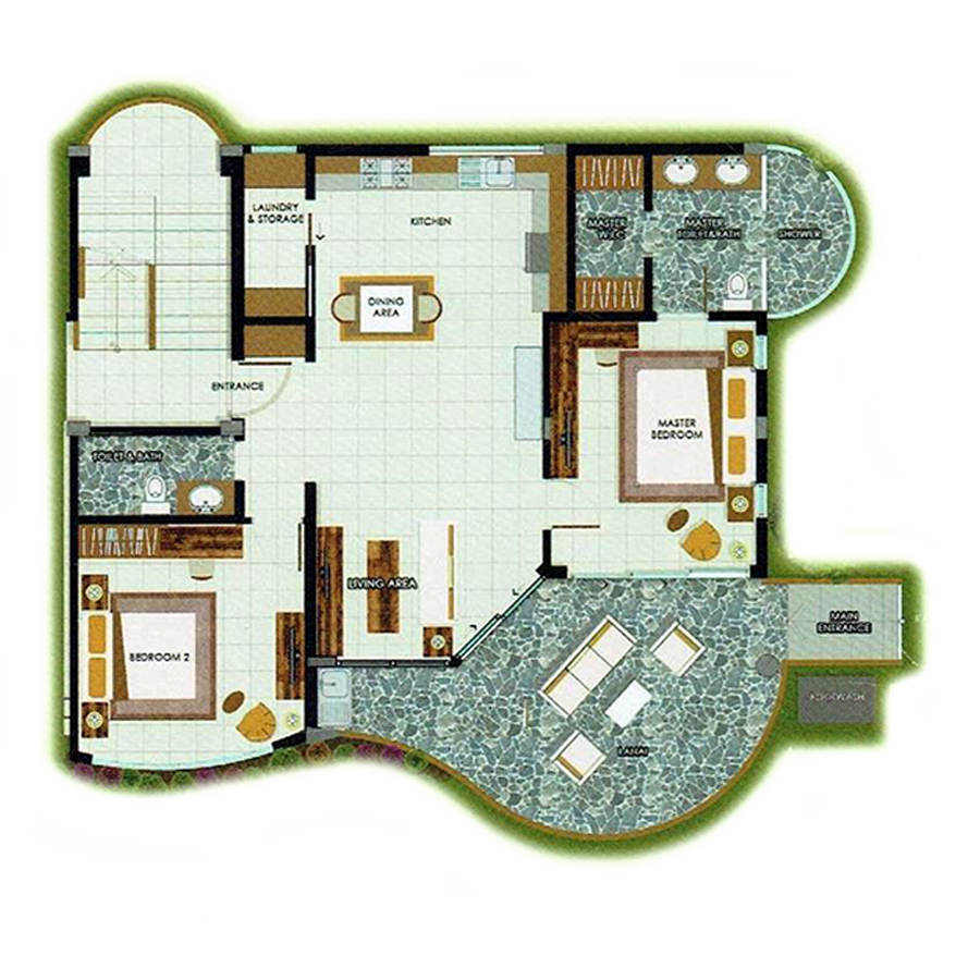 2 Bedroom Deluxe Unit 126 sqm - map