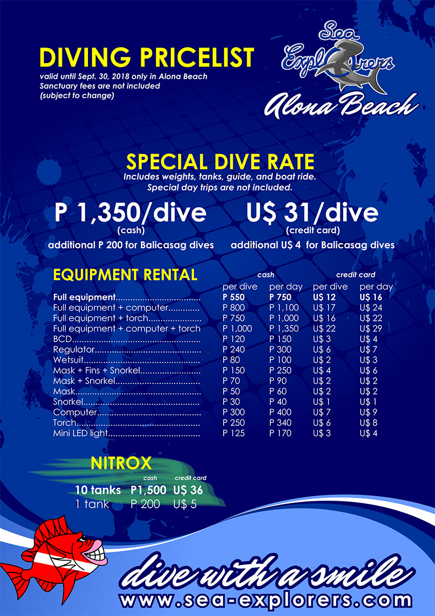 Special Dive Rate