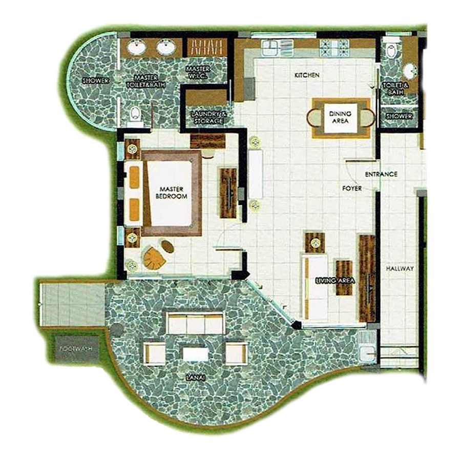 1 Bedroom Deluxe Unit 99 sqm - map