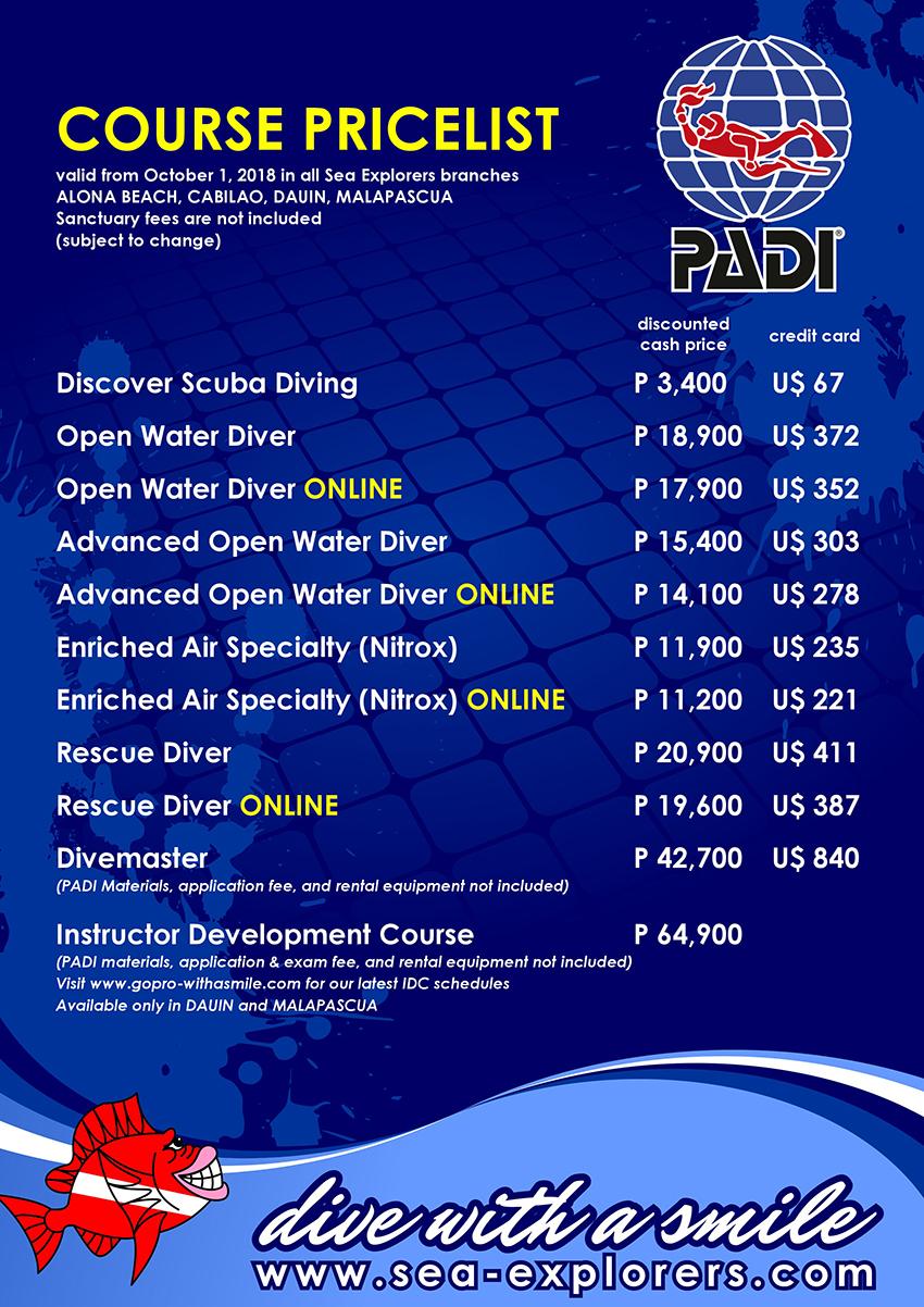 Course Pricelist